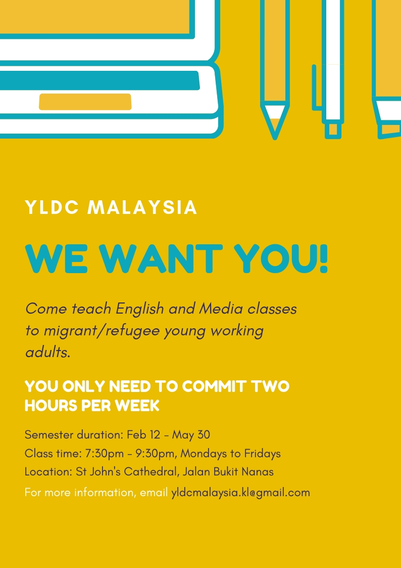 YLDC Malaysia: Call for Volunteers